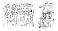 alleywaystuff (Katrina Lam) Tags: alleyway backalleys clotheslines dryingracks sketches
