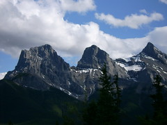 Three Sisters Peak (blacktryst) Tags: sky mountain nature roadtrip alberta threesisters peaks