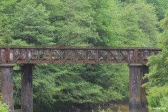 Old Railroad Bridge - Penallt, Wales on one end and Redbrook, England on the other