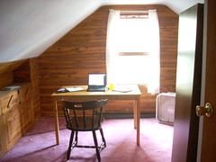 writer's retreat (loxosceles) Tags: house writing computer office cozy cabin workspace attic