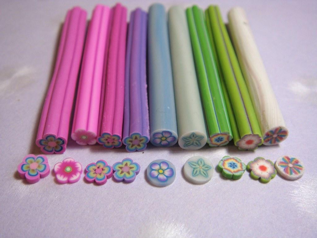 Dollhouse Miniature - Assorted Flower Canes (Set of 9) - SUPPLIES