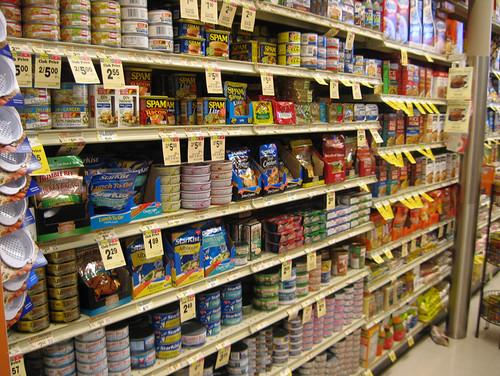 canned aisle