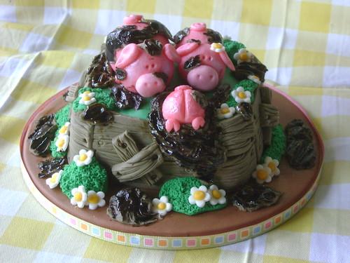 Pigs mini cake