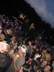 Lovebox Weekender (russelljsmith) Tags: uk friends sea england people music man men guy london up hat yellow festival standing fun hoodie crazy concert victoriapark europe gig drinks drunks 2009 lovebox loveboxweekender 77285mm loveboxweekender2009 lovebox2009 lastfm:event=861454