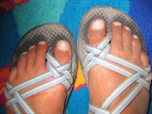 Pompeii feet