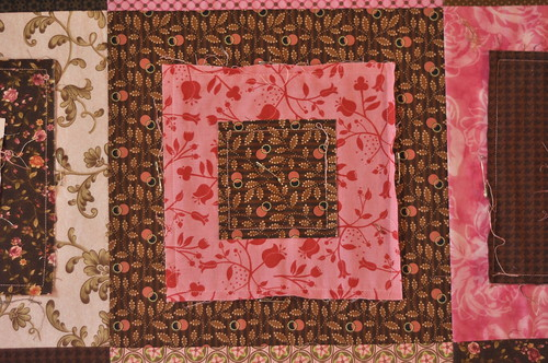 Pink/Brown Ragged Square blocks
