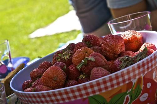 Jordbær og sol - en herlig kombinasjon