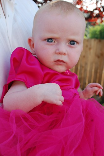 baby in pink dress