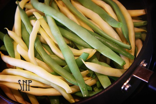 . yellow and green beans .