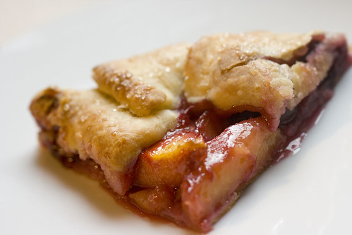 Peach and Cherry Galette - slice 2