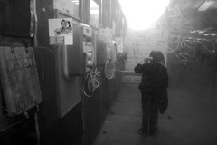 The last call from the Underworld (Olh, Gergely Mt (OGM)) Tags: street bw telephone sub budapest telefon ff botos nni klvin hvja fit
