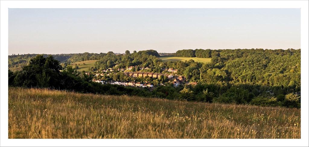 Kenley from Riddlesdown Panorama 4b