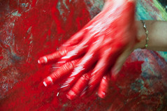Les mains sales-36 (metatong) Tags: red color painting rouge blood hands acrylic hand main peinture killer murder dexter sang mains guilty murderer coupable acrylique tueur d300 redpaint meurtre meurtrier peinturerouge