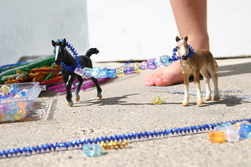 beaded pony tether