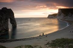 Durdle Door Sunset (robdjones) Tags: door sunset sea seascape beach rock canon landscape eos arch dusk dorset headland durdle 450d robdjones