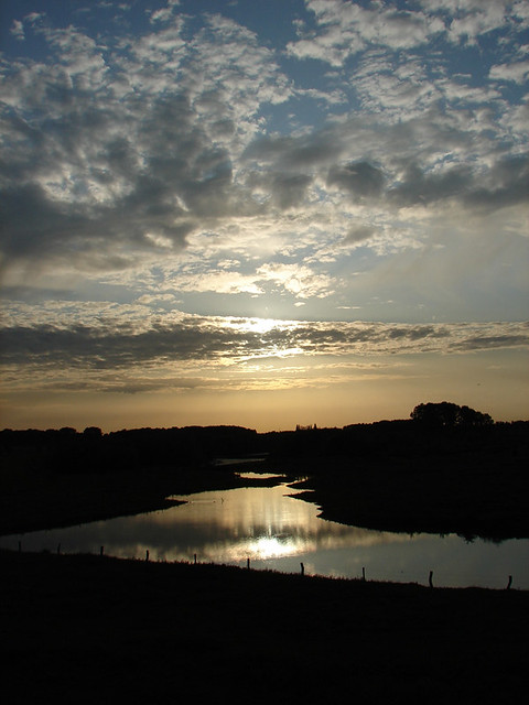 Sunset above the IJssel