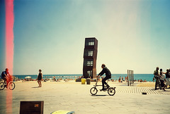 (_selma) Tags: barcelona sea summer beach bicicleta barceloneta summertime fff001