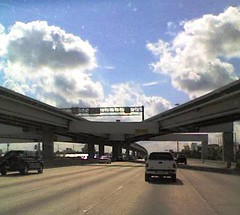 IH 45 HOV wishbone ramp merge south of F.M. 1960 (FreewayDan) Tags: texas freeway houstonarea interstate45 hovlane