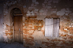 Door to the another world (P.Sobczyk (away)) Tags: door light shadow italy house brick window wall downtown oldbuilding marche rubble civitanova