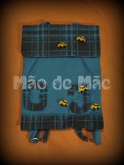 Mochila infantil (Mo de Me) Tags: bag handmade artesanato purse feltro bolsa giz pintura cera filz tecido fieltro pannolenci