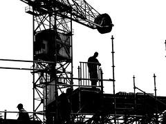 working (wojofoto) Tags: blackandwhite amsterdam zwartwit working werken ndsm kraan wolfgangjosten wojofoto hensencrane