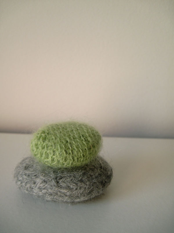 felted and crochet rocks