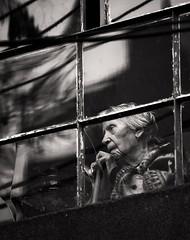 Sete de setembro (Nilton Ramos Quoirin) Tags: old brazil reflection window paran brasil lady velha curitiba janela reflexo senhora independncia idosa bengala setedesetembro