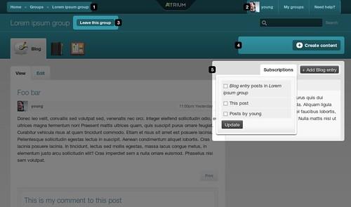 Key changes in Open Atrium's UI: Fluid width/ Breadcrumbs