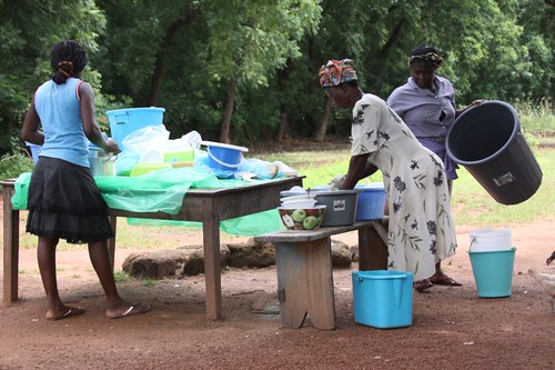 Dish-washing in Tamale...