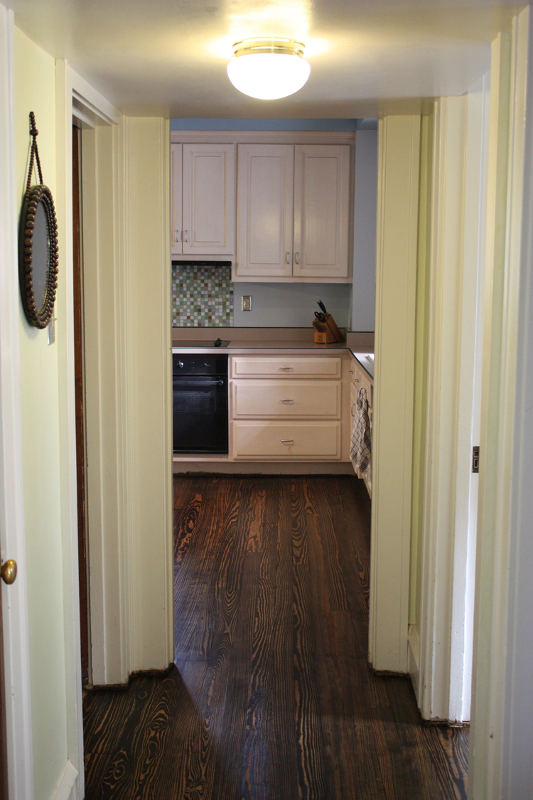 kitchen :: floors refinished