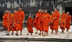 Monks-Angkor Wat (kinginexile) Tags: life portraits temple asia cambodia khmer religion buddhism monks mirrorsofsociety angkor perennial perplexity itsong–mirrors–southeastasia monkhood novices angkorsingle