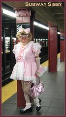 Sissy in a subway (emily_sheldon) Tags: nyc pink newyork cd 34thstreet sissy transvestite pennstation tg poofie subwayinnewyork
