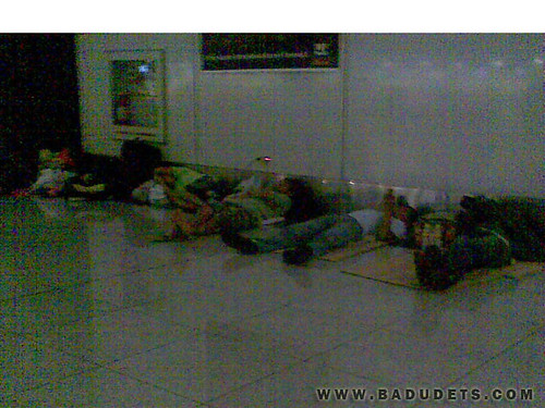 stranded passengers at the airport