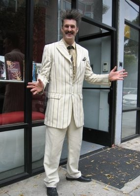 James is easily the best dressed guy in the comic bookstore game.  photo from LeftCoastStyle.com