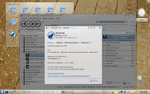 amarok-2.2.0 dans Archlinux