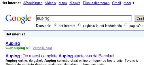 Google.nl auping - gevolg uitsluiting Robots.txt
