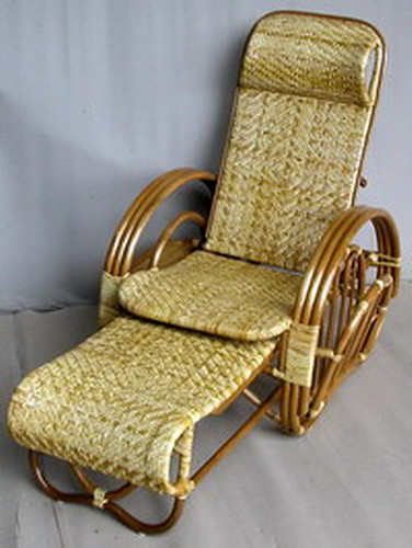 Natural Rattan Lazy Chair