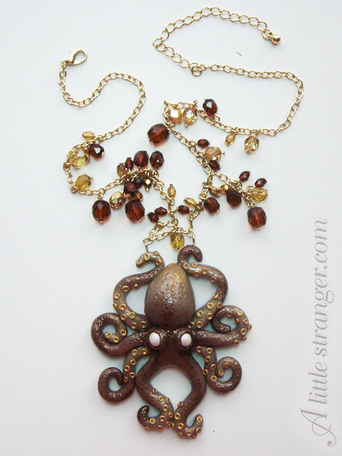 Finished Octopus necklace
