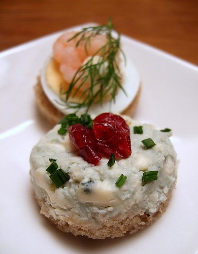 blue cheese open sandwich, Scandinavian Kitchen