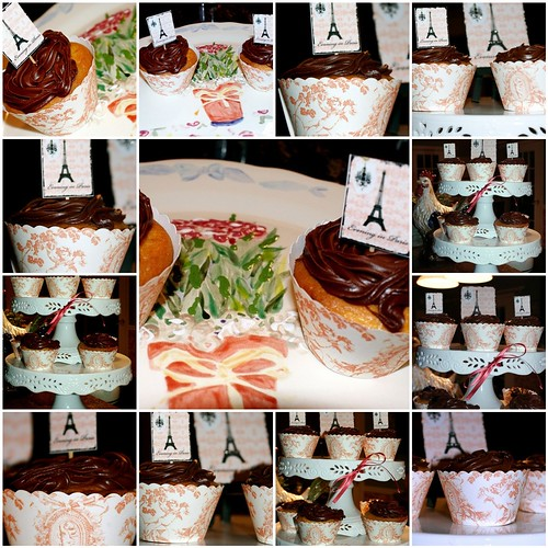 Cupcakes, toppers and toile covers