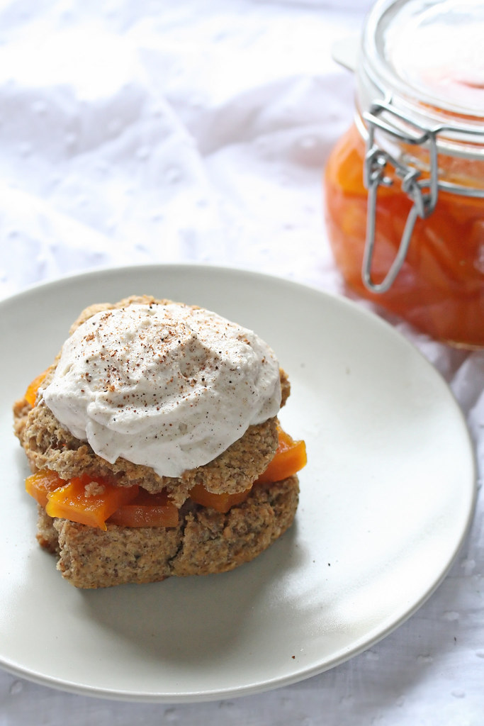 Bulghur Shortcakes w/ Candied Pumpkin Preserves