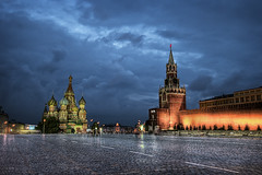 The Red Square (momentaryawe.com) Tags: square evening cloudy russia moscow redsquare hdr kremlin d300 stbasilcathedral catalinmarin momentaryawecom