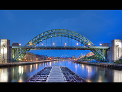 Tyne at Night (i.rashid007) Tags: uk england night north tyne tynebridge bluehour newcastleupontyne quayside tyneandwear