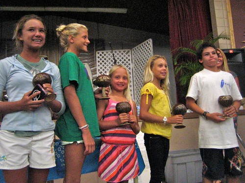 Youth receiving their awards
