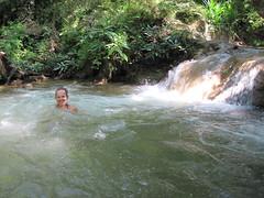 Swimming in the waterfalls