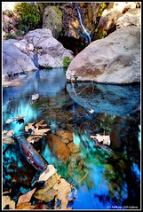Solstice Canyon Trail's Waterfall (Pat's Travelogue) Tags: waterfall hiking sigma malibu trail 1020mm polarizer pacificcoasthighway wideanglelens goldandbluefilter corralcanyondrive