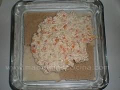 Capa de ensalada de pollo