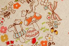 Cosmo forest friends linen (badskirt) Tags: bunnies forest mushrooms japanese squirrels linen fabric textiles cosmo badskirtmadeit madeitbadskirt badskirt
