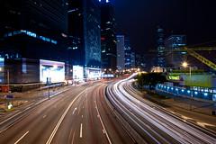忠於我本性 (terencehonin) Tags: city longexposure light hk nikon track traffic 1735mm lightray hongkonh d700