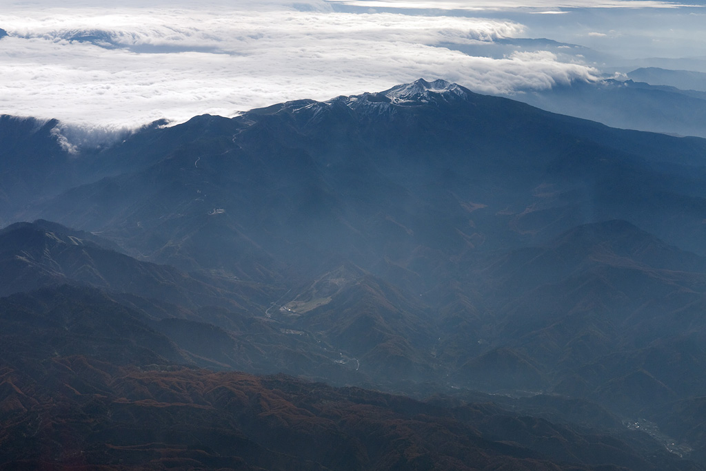 the view of airplane window (2) Mt. Norikura-dake